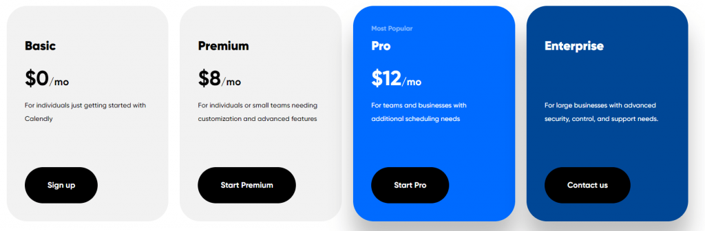 Calendly prices